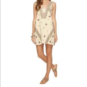 NWT FREE PEOPLE Ivory Embroidered Dress